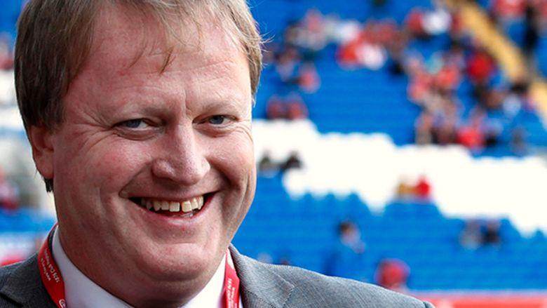 Cardiff, Wales 20111112.Yngve Hallén, Norges fotballpresident, før landskampen i fotball mellom Norge og Wales på Cardiff City Stadium lørdag.Foto: Erlend Aas / Scanpix