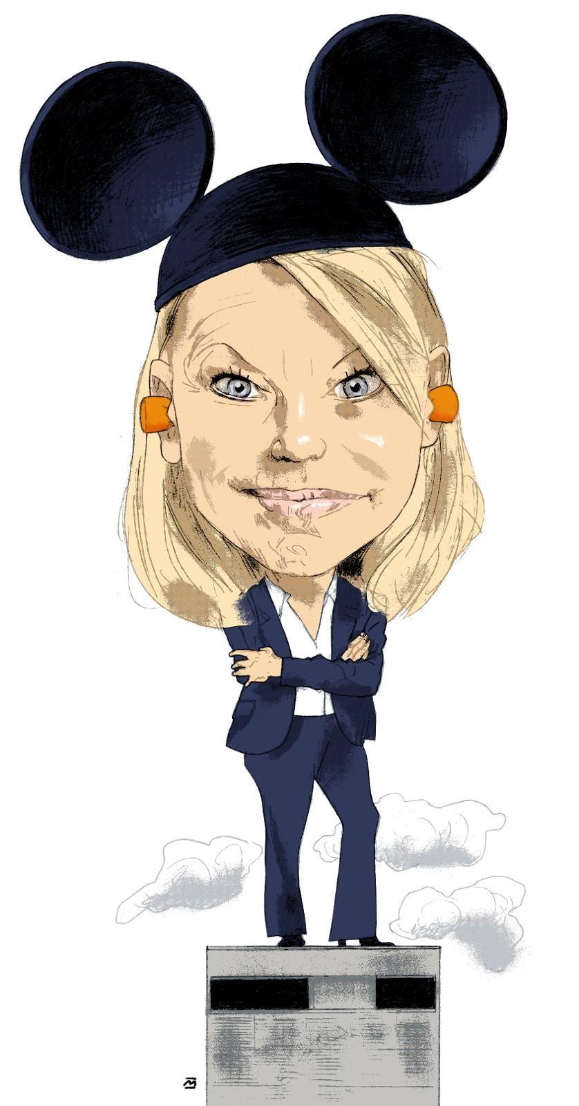 Den gang: Monica Mæland (H) som byrådsleder i et Mikke Mus-styrt Bergen. arkivillustrasjon: Marvin Halleraker