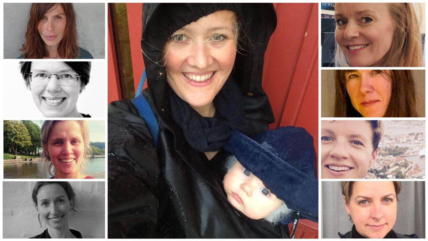 AKSJON: Ni mødre vil fortelle sine barn om det frie liv i Bergen.