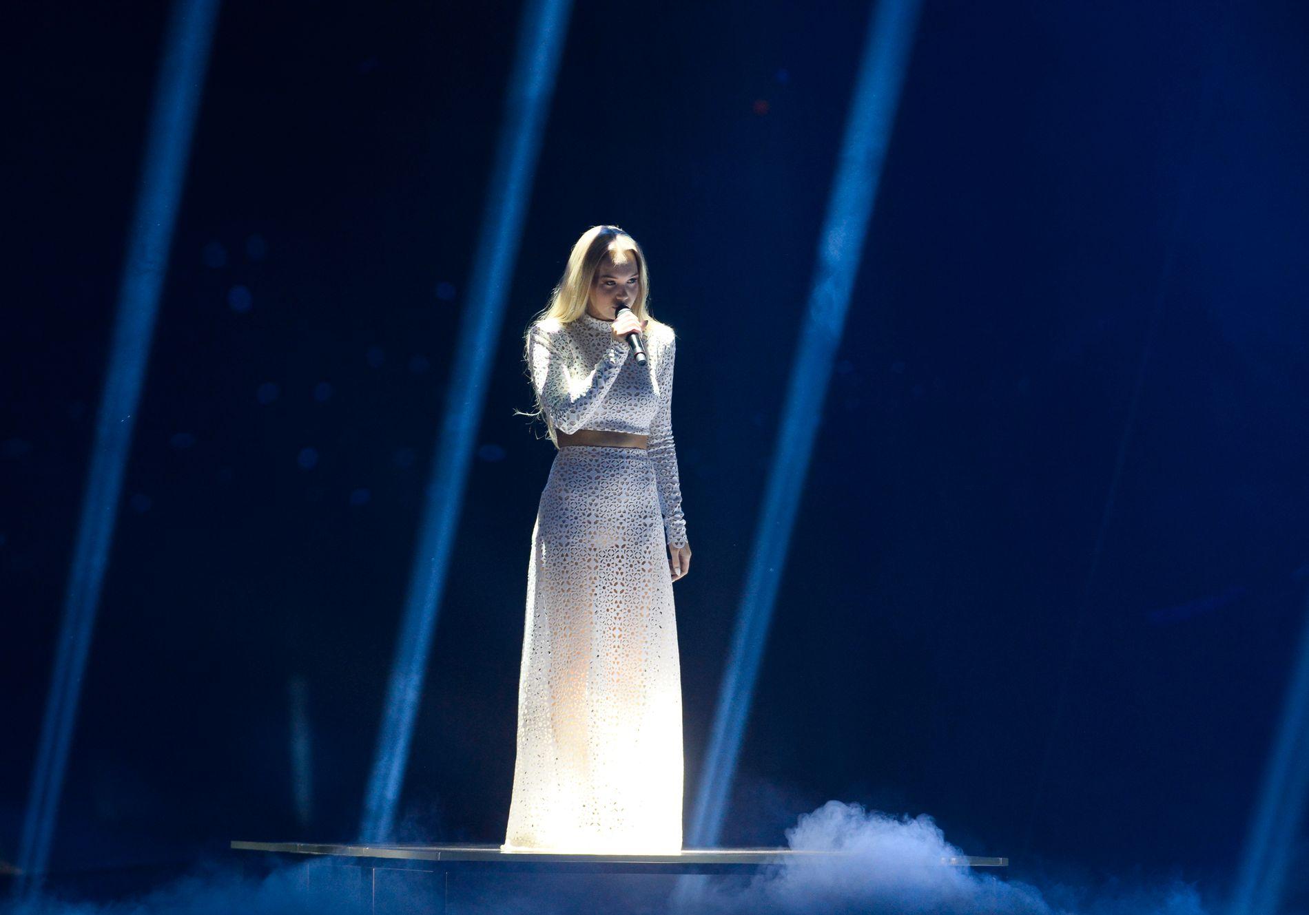 ESC: Norges Agnete framførte bidraget «Icebreaker» under den andre semifinalen under Eurovision Song Contest (ESC) i Globen i Stockholm torsdag kveld.