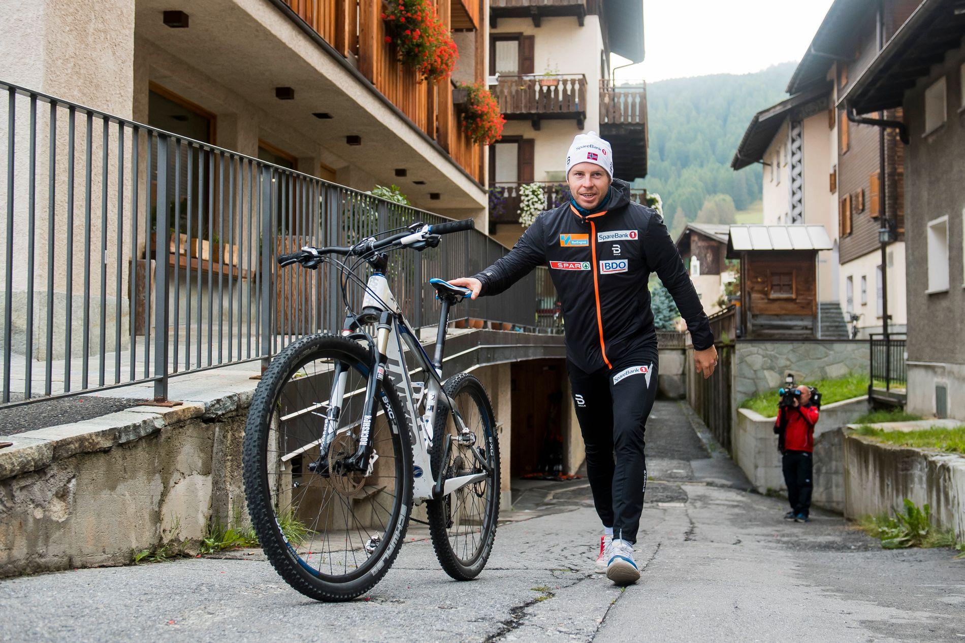 Eirik Myhr Nossum under landslagets samling i Livigno i månedsskiftet august/september i fjor. I år blir det ingen samling i den italienske alpelandsbyen. Nossum tar med seg sine løpere til Pyreneene.