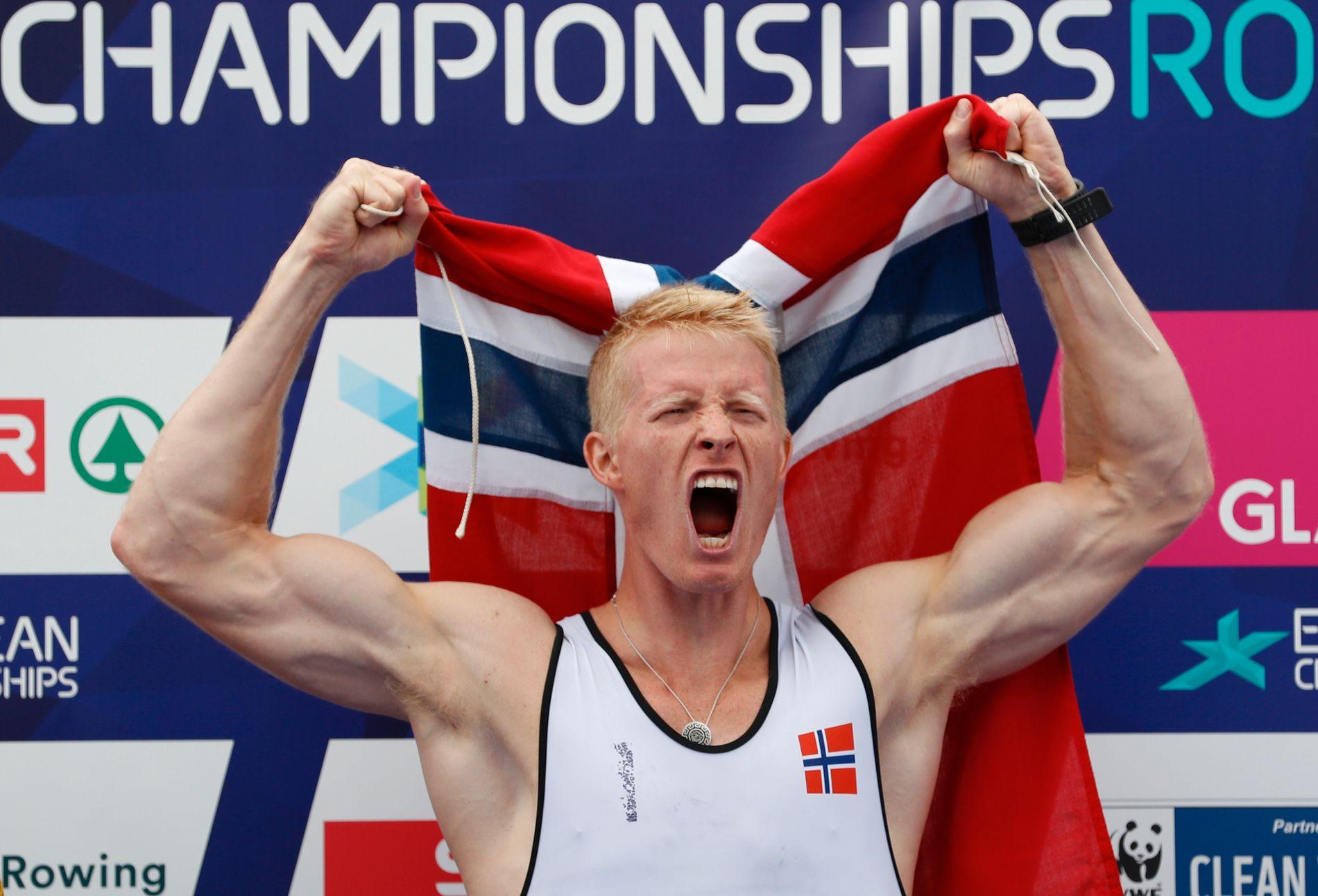 Så glad blir en utøver som tar et EM-gull. Borch vant i Glasgow i sommer.