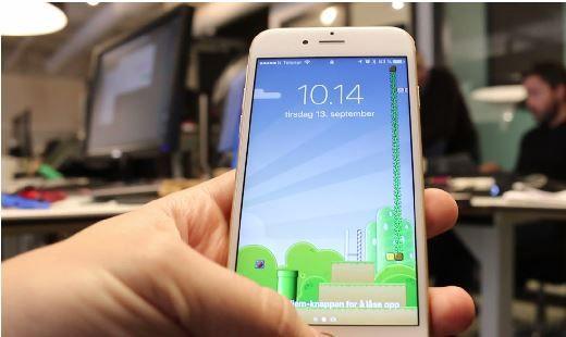 AUTOMATISK: Når du bevger på Iphonen slår den seg automatisk på. Foto:Ttek.no