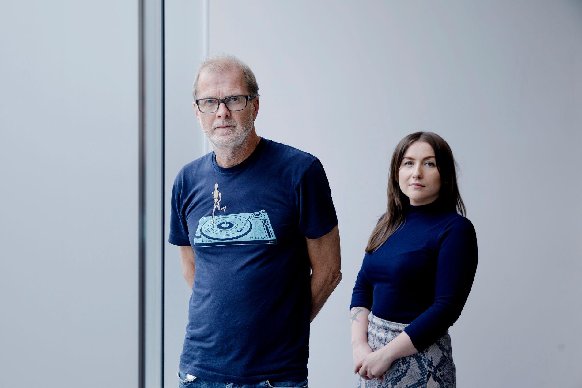 I STUDIO: Kulturredaktør i Bergens Tidende, Frode Bjerkestrand og programleiar Ingvild Nave.