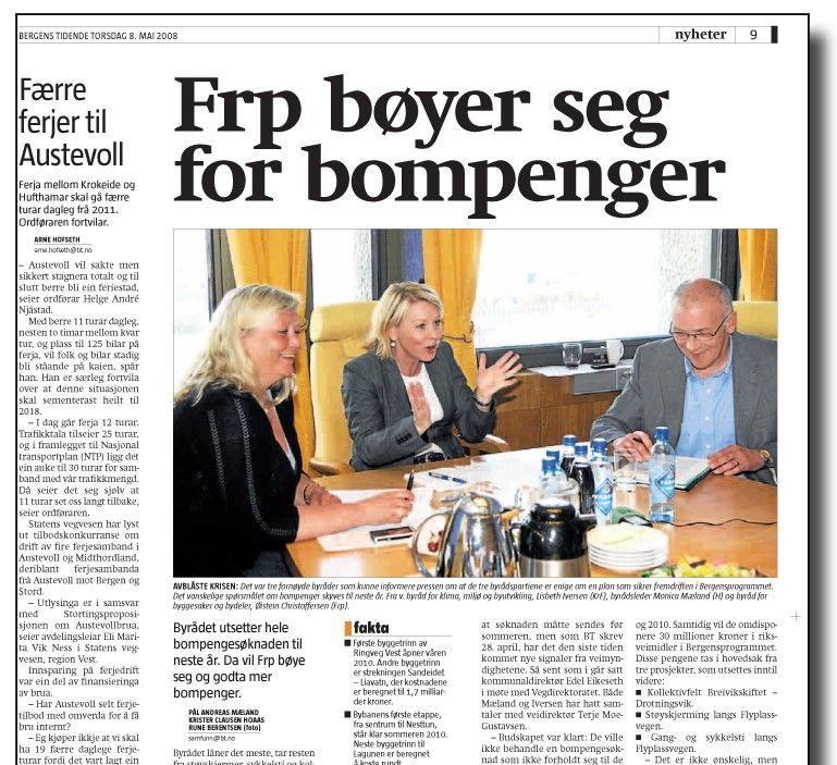 OMKAMP: Frp i Bergen har måttet bøye seg i bompengesaken på hjemmebane.