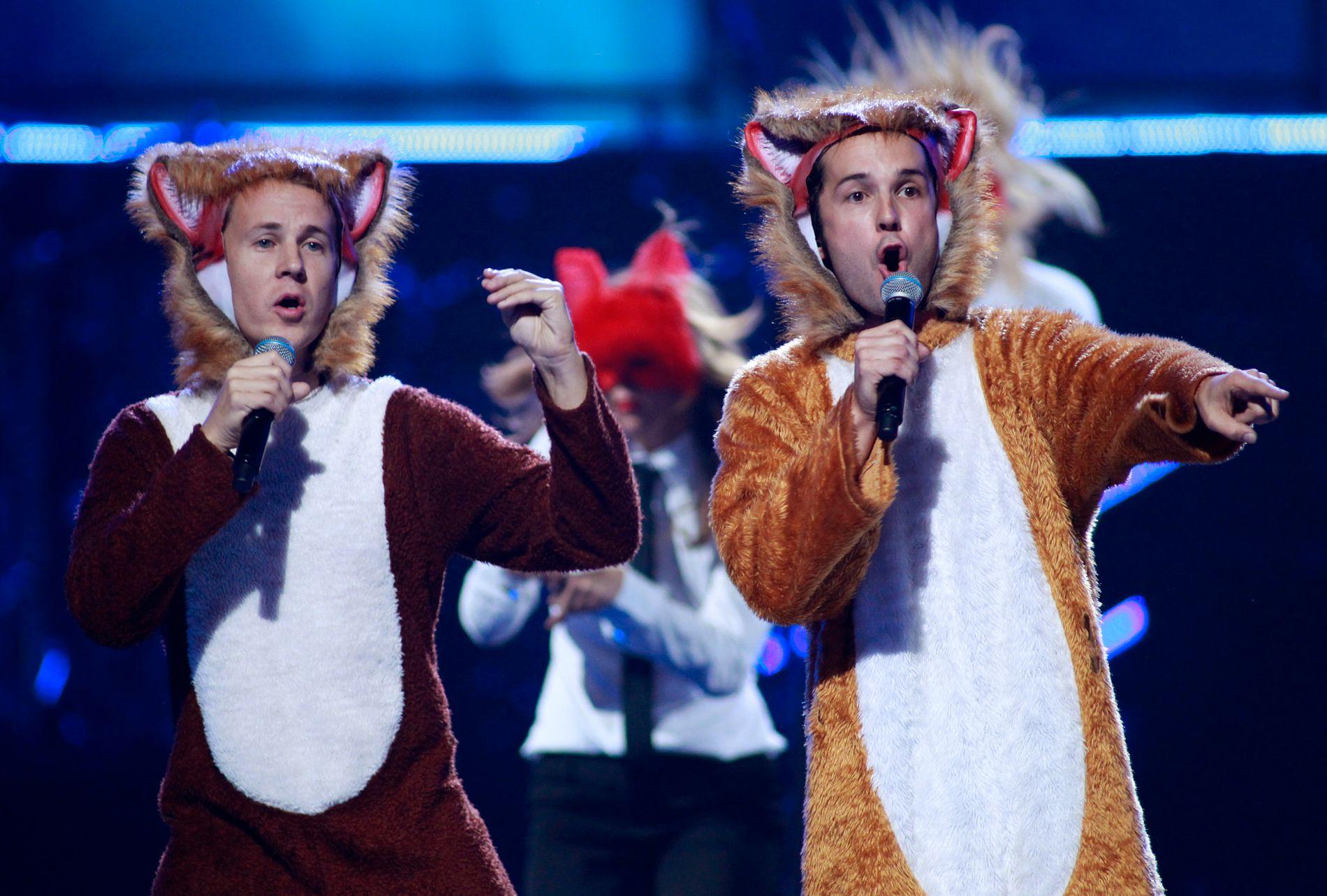 REVEHITEN: Ylvis har også fremført «The Fox» på iHeartRadio-festivalen i Las Vegas, og dermed stått på samme scene som blant annet Paul McCartney og Katy Perry.