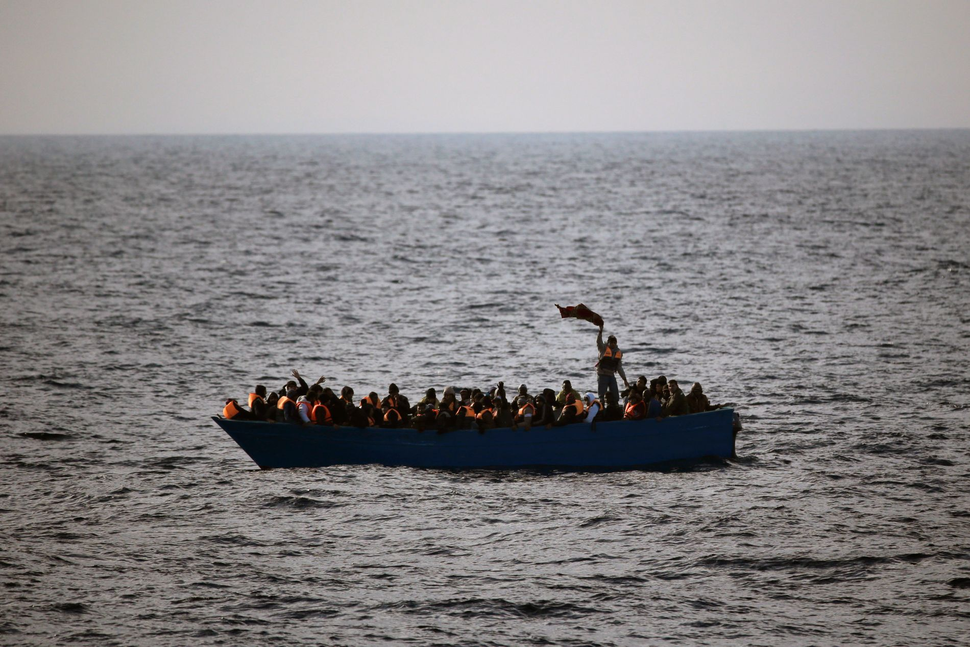 PÅ FLUKT: 93.000 flyktninger har kommet over Middelhavet til Italia siden nyttår.