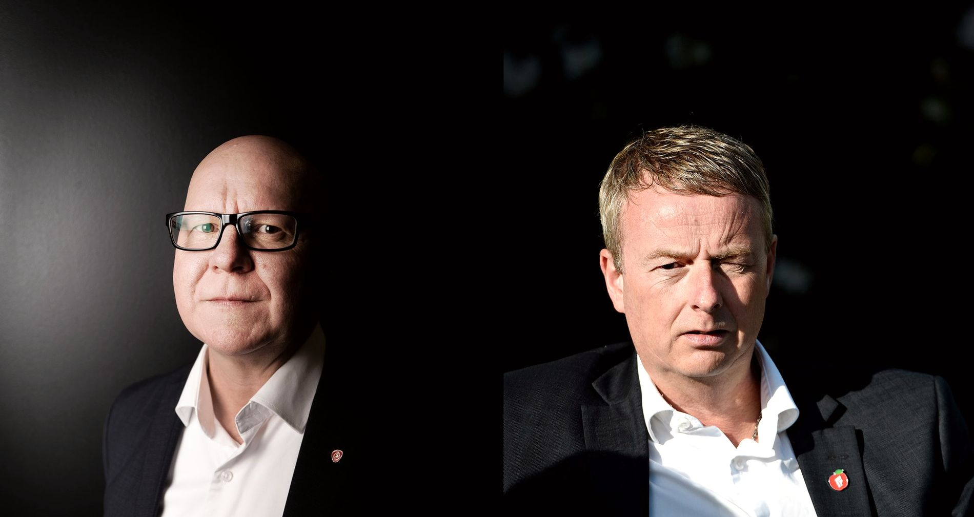 DUELL: «Hvem er best - Os eller Bergen?» Ap-byråd Rune Bakervik debatterer mot Frp-ordfører Terje Søviknes.