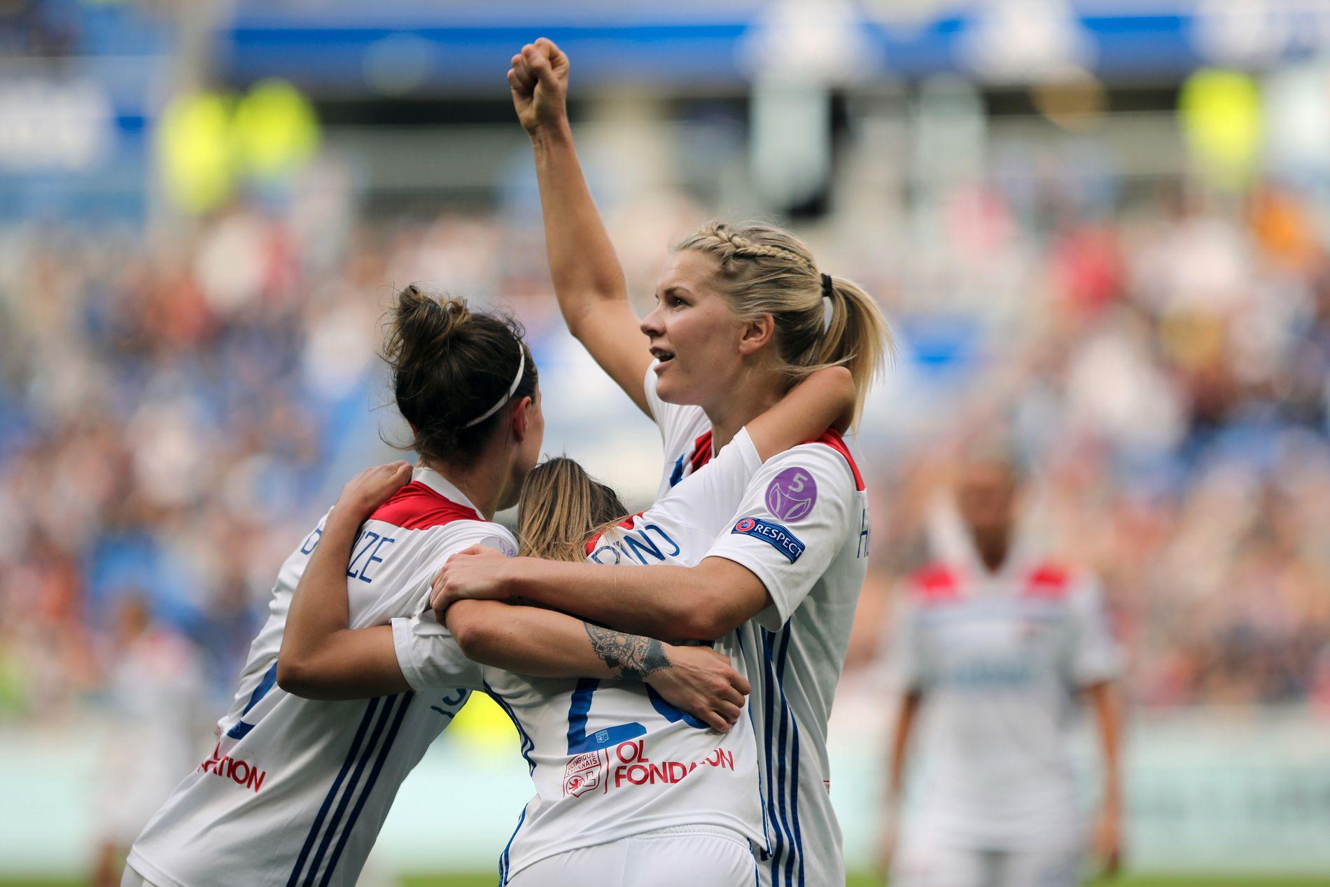 Ada Hegerberg og Lyon tar med seg en 2–1-ledelse til London.