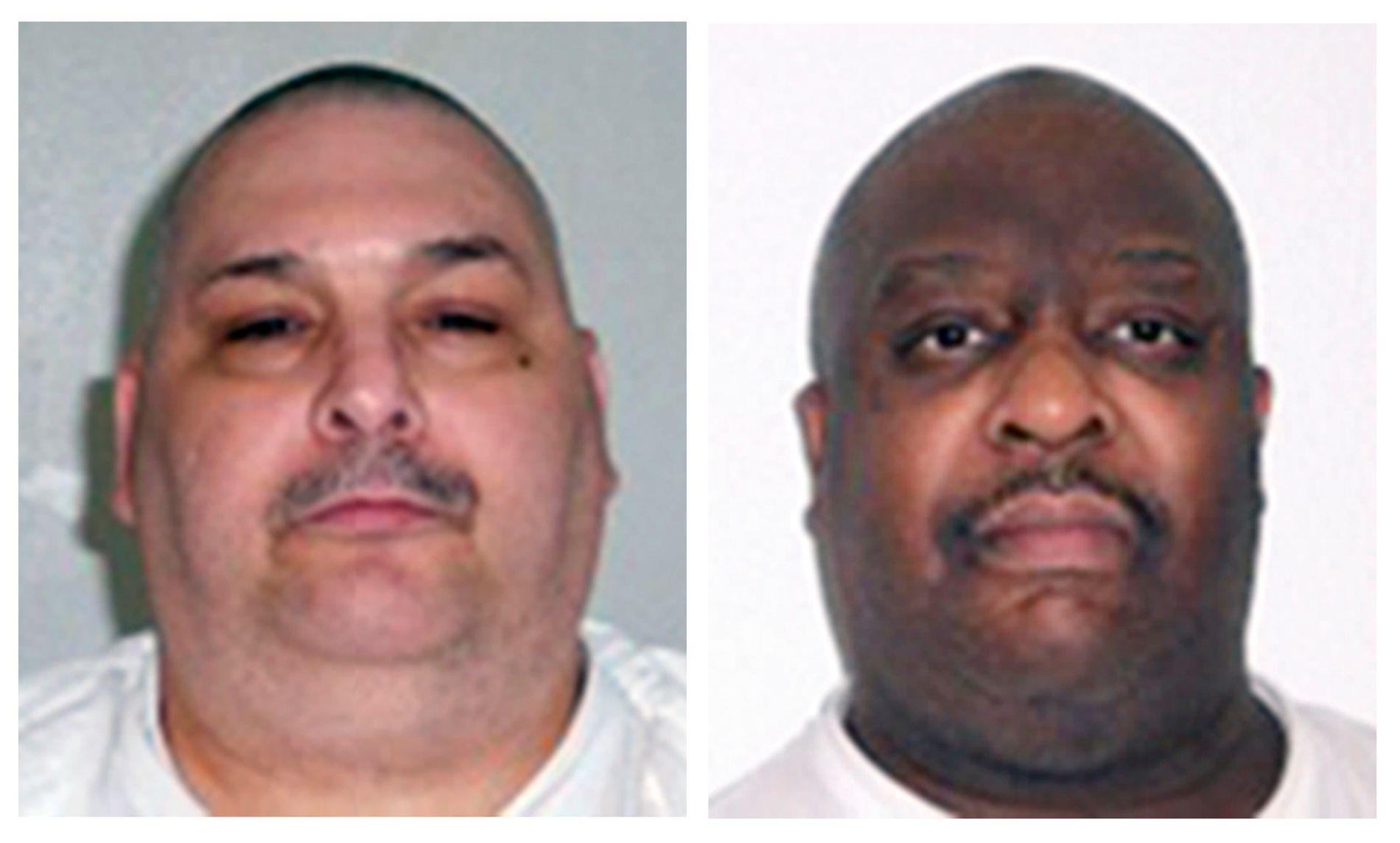 Jack Jones, til venstre, og Marcel Williams ble begge henrettet mandag kveld. Begge hadde dårlig helse og ba om å få henrettelsen utsatt fordi de fryktet at giftinjeksjonen ville kunne forårsake utilsiktet og grusom smerte. Foto: AP / NTB scanpix