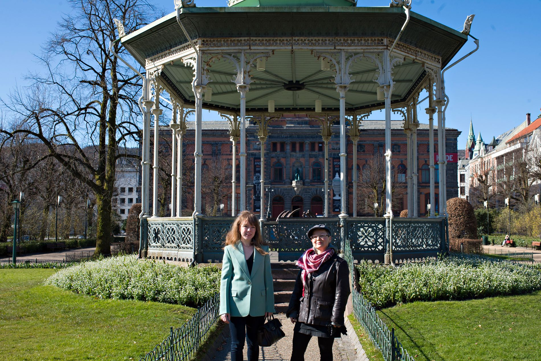 PROVOSERT: Heidi Jaeger og Rita Marhaug liker dårlig at Dronning Sonja skal åpne Kode 1 (Permanenten) med egen utstilling.