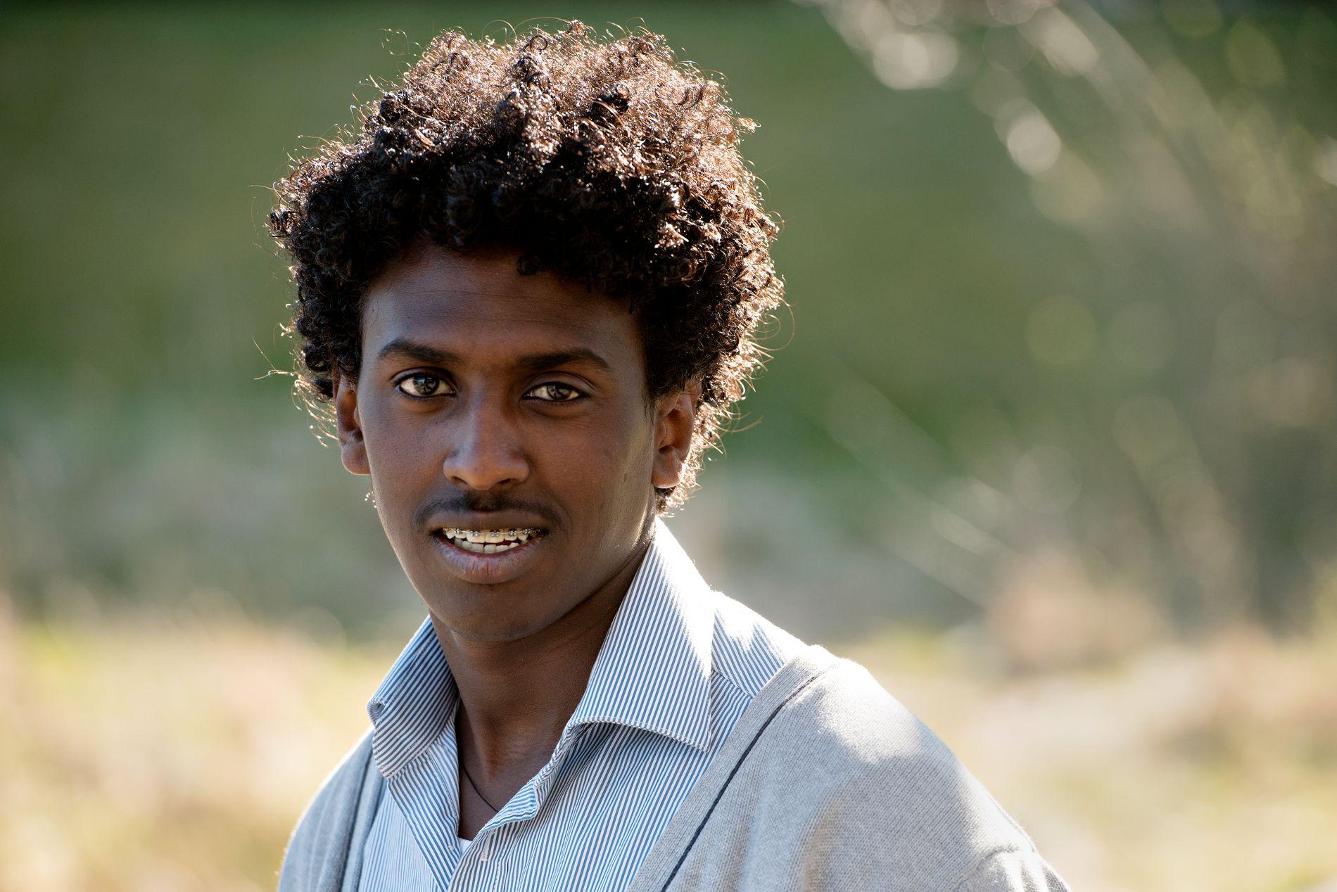 MEST NORSK: Når jeg spiller fotball med norske ungdommer snakker jeg så mye norsk som jeg kan. Da føler jeg meg mest norsk, skriver Dawit (17).