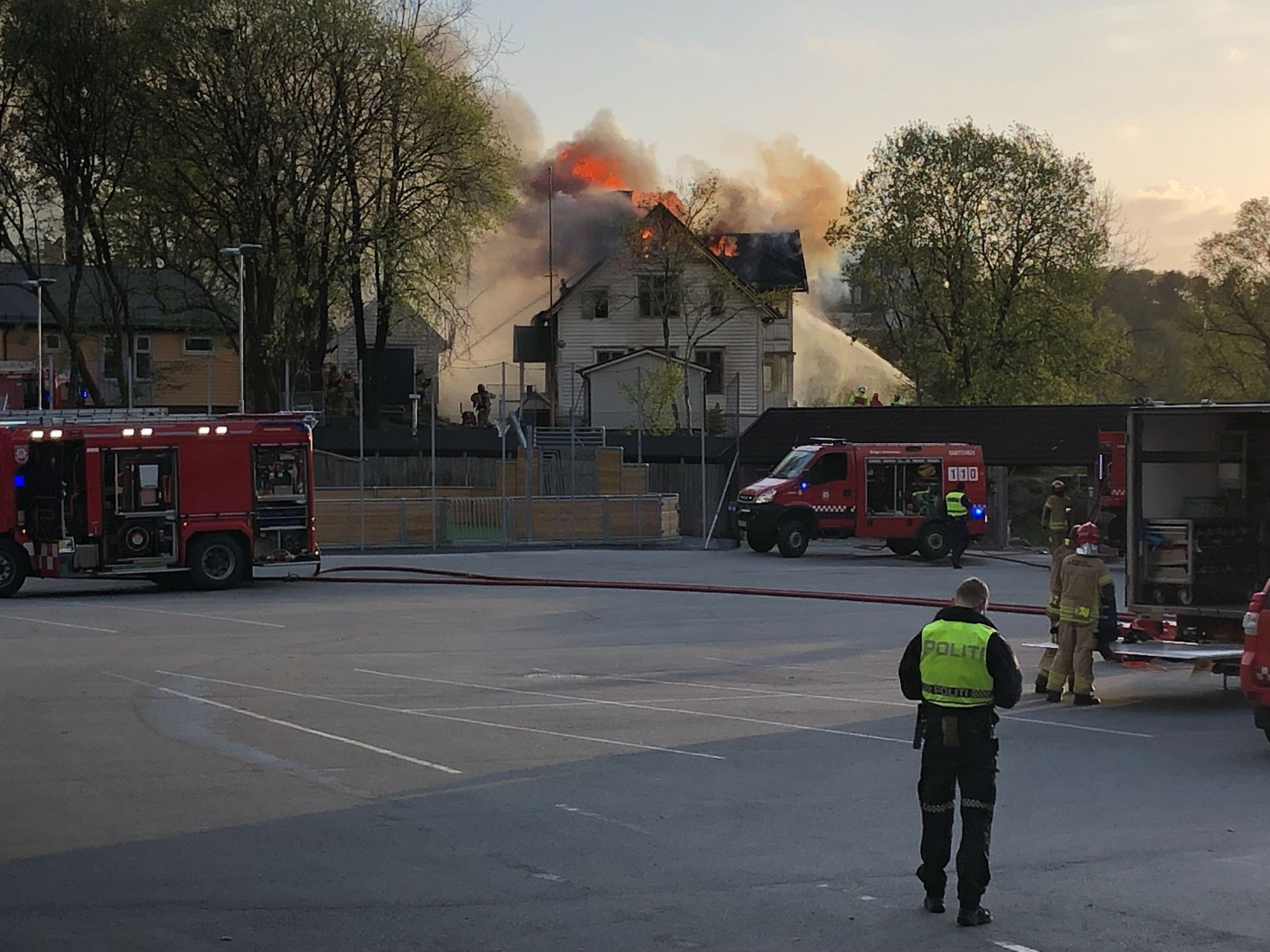 BRANN: Slik så det ut på brannstedet i 20-tiden.