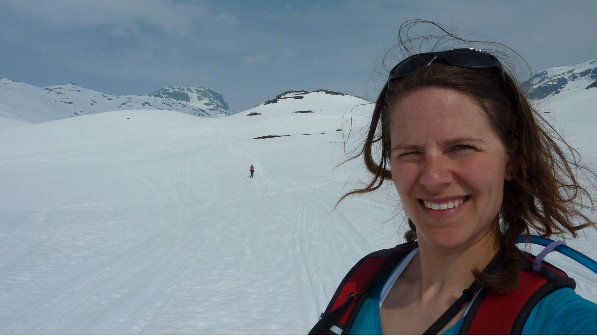 Kristin Hatlen hadde mye klister under skiene.