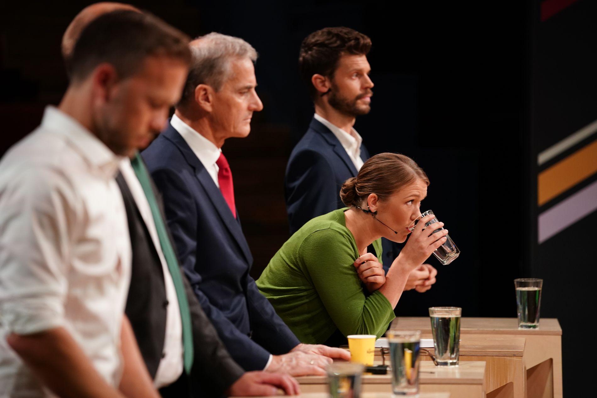 TRONDHEIM: MDGs Une Aina Bastholm under partilederdebatten på NRK fredag kveld.