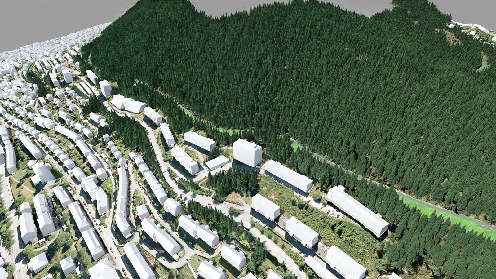 Fjellvei på løvstakken: Turveien Løvstien slynger seg rundt fjellet.